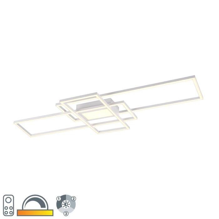 Plafonnière-wit-incl.-LED,-afstandsbediening-3-staps-dimbaar---Riha