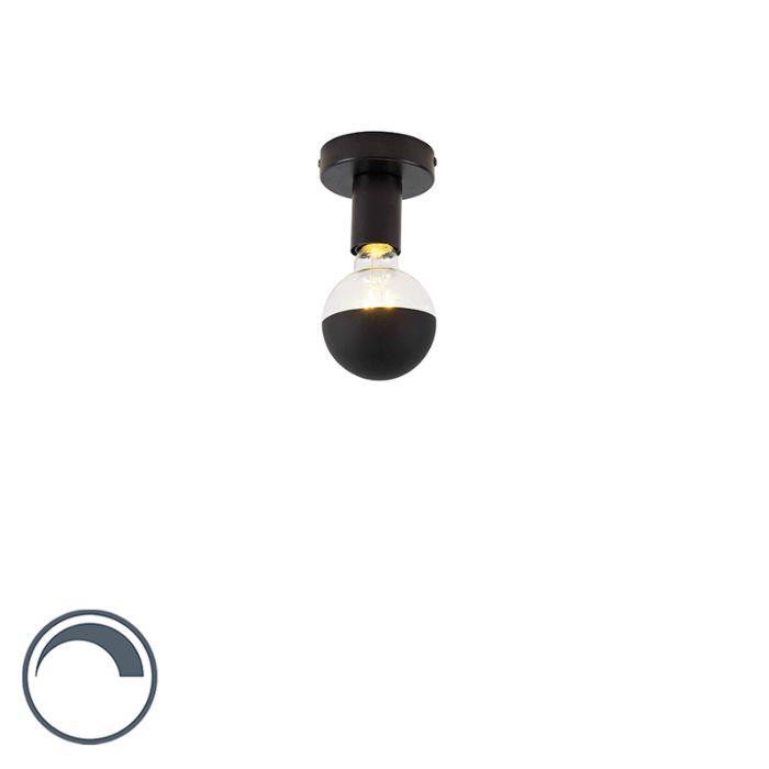 Design-plafondlamp-zwart-met-G95-kopspiegel-zwart--Facile