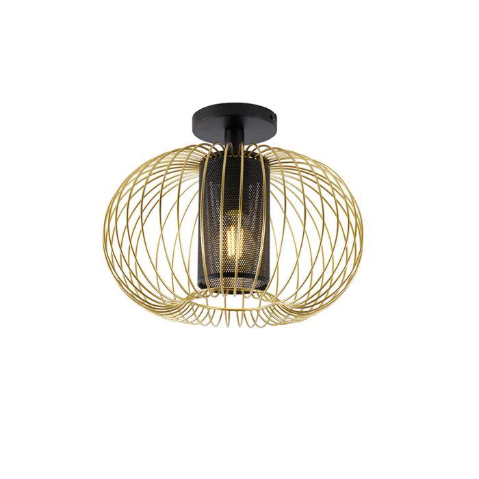 Design-plafondlamp-goud-met-zwart---Marnie