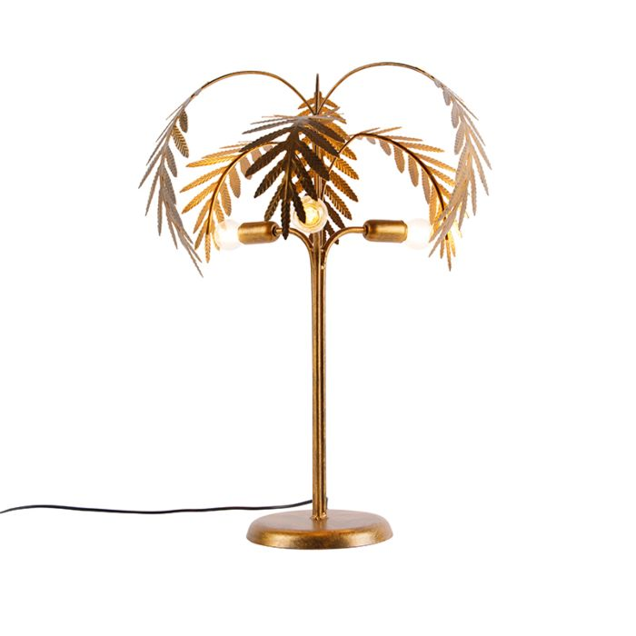 Art-Deco-tafellamp-goud-3-lichts---Botanica