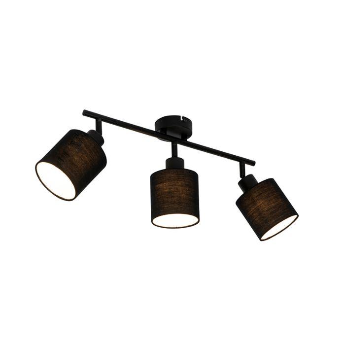 Moderne-plafondlamp-zwart-3-lichts---Hetta