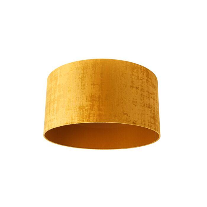 Velours-lampenkap-goud-50/50/25