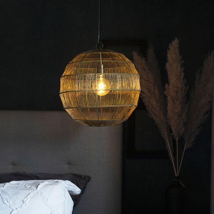 Moderne-hanglamp-messing-42-cm---Bolti
