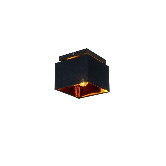 Moderne-plafondlamp-zwart-met-goud---VT-1