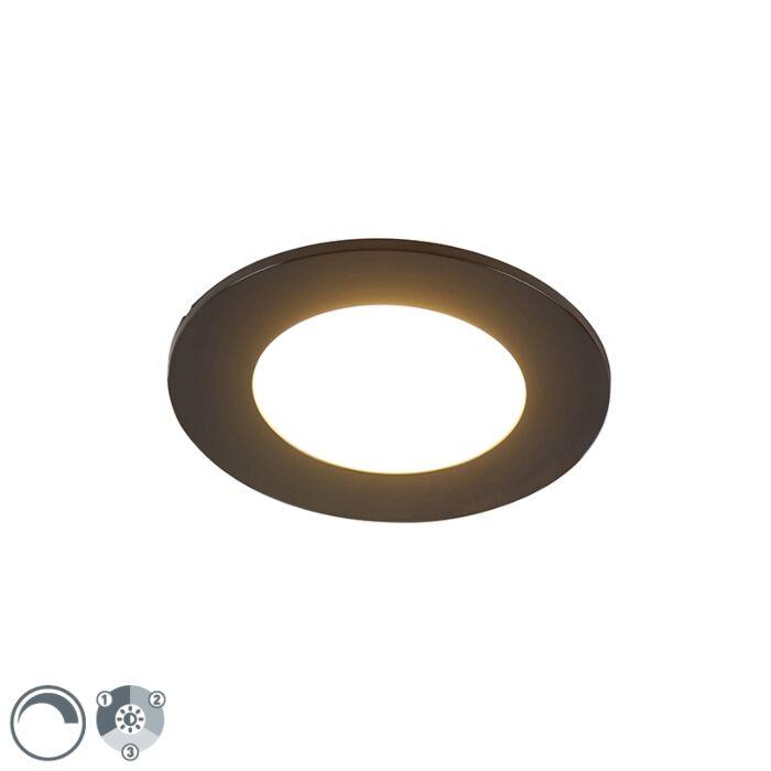 Moderne-inbouwspot-zwart-incl.-LED-3-staps-dimbaar-IP65---Blanca