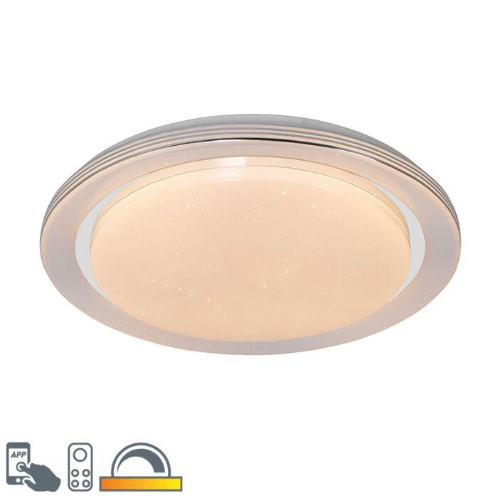 Smart-plafondlamp-wit-48-cm-incl.-LED-en-dimmer-RGB---Jochem