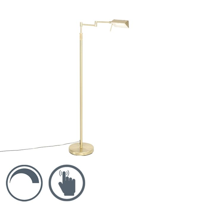 Vloerlamp-messing-incl.-LED-met-touch-dimmer---Notia