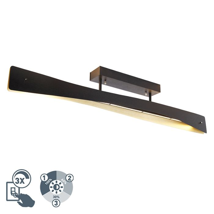 Plafondlamp-zwart-incl.-LED-4-staps-dimbaar---Sjaak