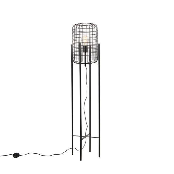 Industriële-vloerlamp-zwart---Bliss-Vefa
