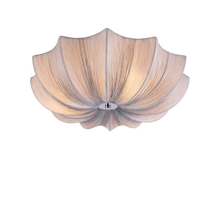 Design-plafondlamp-grijs-zijden-52-cm---Plu