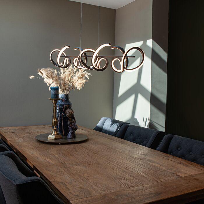 Design-hanglamp-zwart-incl.-LED-en-dimmer---Krisscross