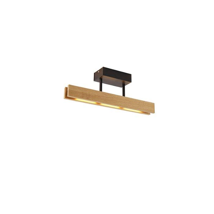 Landelijke-plafondlamp-hout-incl.-LED---Holz