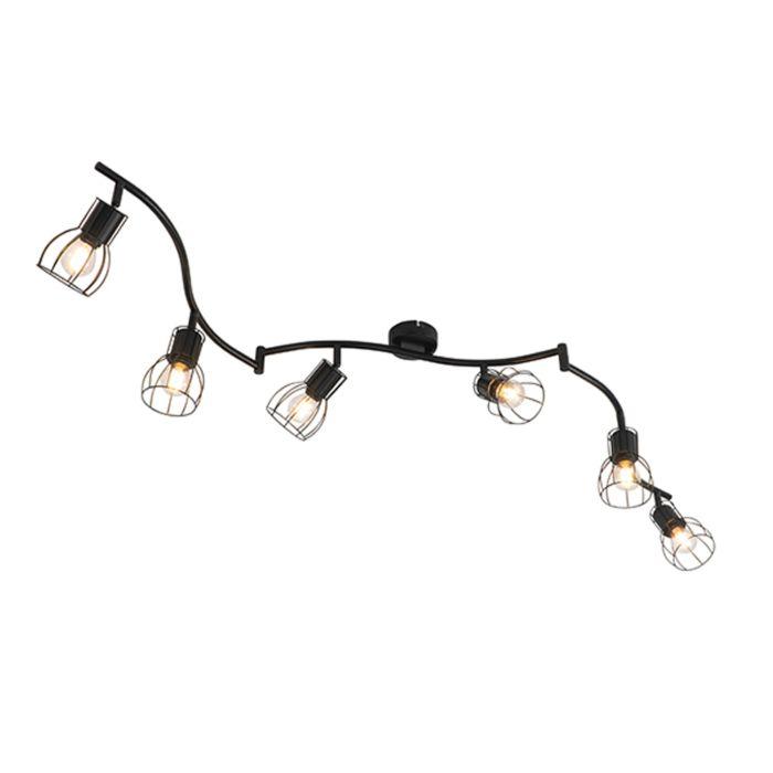 Moderne-plafondlamp-zwart-162-cm-6-lichts---Botu