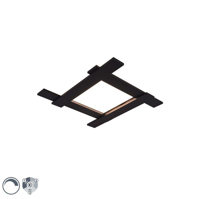 Moderne-plafondlamp-zwart-incl.-LED-3-staps-dimbaar-4-lichts---Lisa