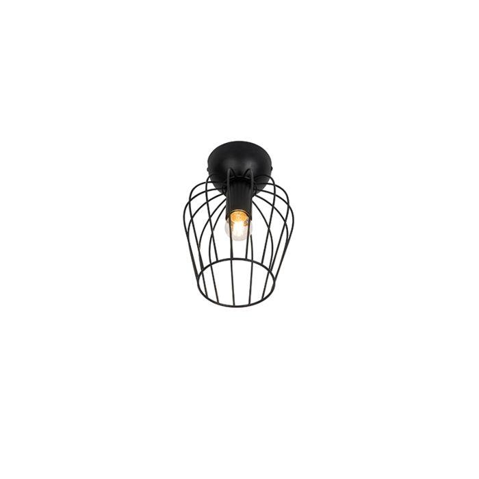 Moderne-plafondlamp-zwart---Palica