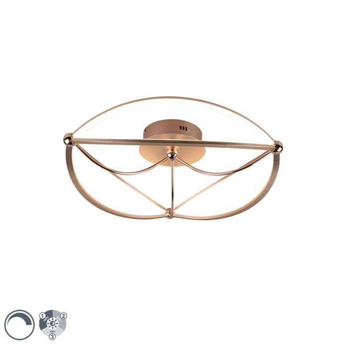 Plafondlamp-messing-62-cm-incl.-LED-3-staps-dimbaar---Jacky