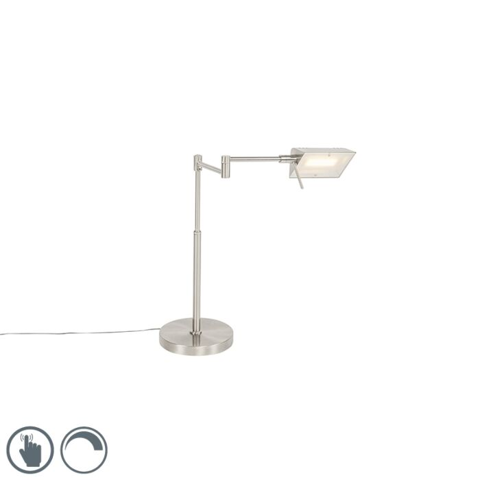 Design-tafellamp-staal-incl.-LED-met-touch-dimmer---Notia