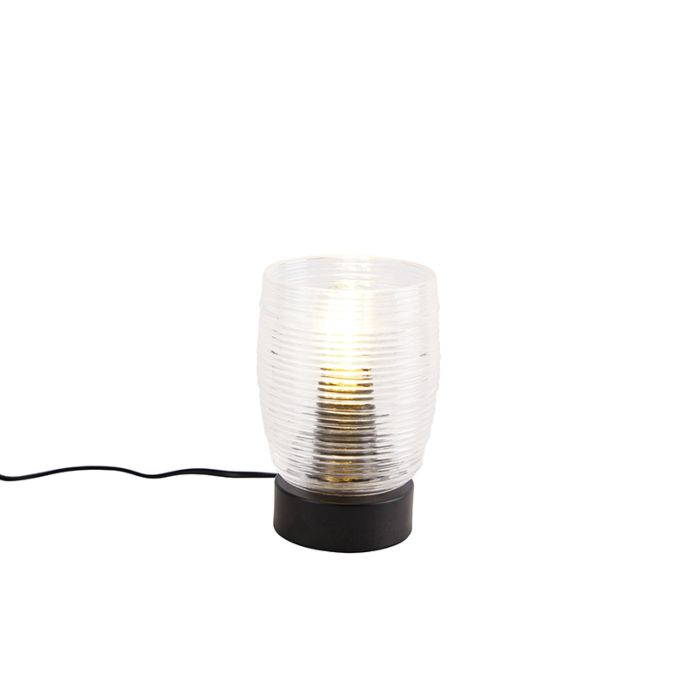 Art-deco-tafellamp-zwart---Michi