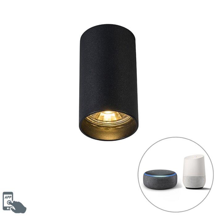Smart-moderne-spot-zwart-incl.-WiFi-GU10---Tuba-1