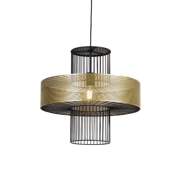 Design-hanglamp-goud-met-zwart-50-cm---Tess