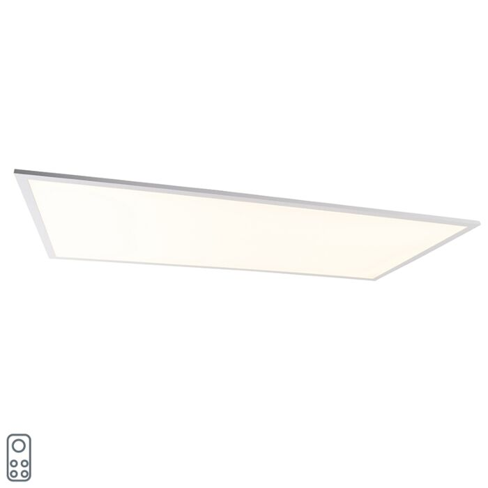 Plafondlamp-staal-120-cm-incl.-LED-met-afstandsbediening---Liv