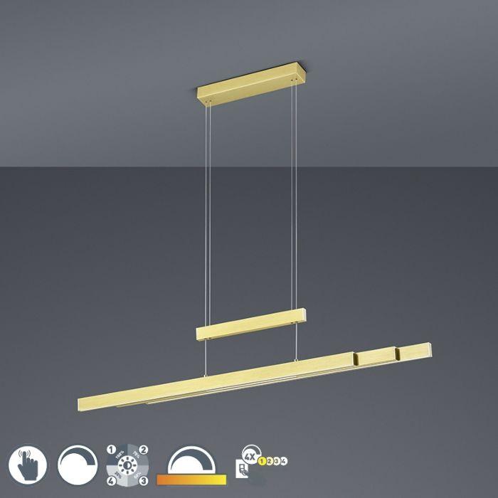 Hanglamp-messing-incl.-LED-3-staps-dimbaar-3-lichts---Sofie