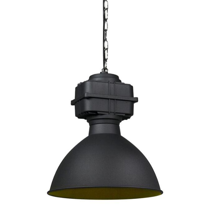 Smart-industriële-hanglamp-zwart-38,5-cm-incl.-A60-WiFi---Sicko