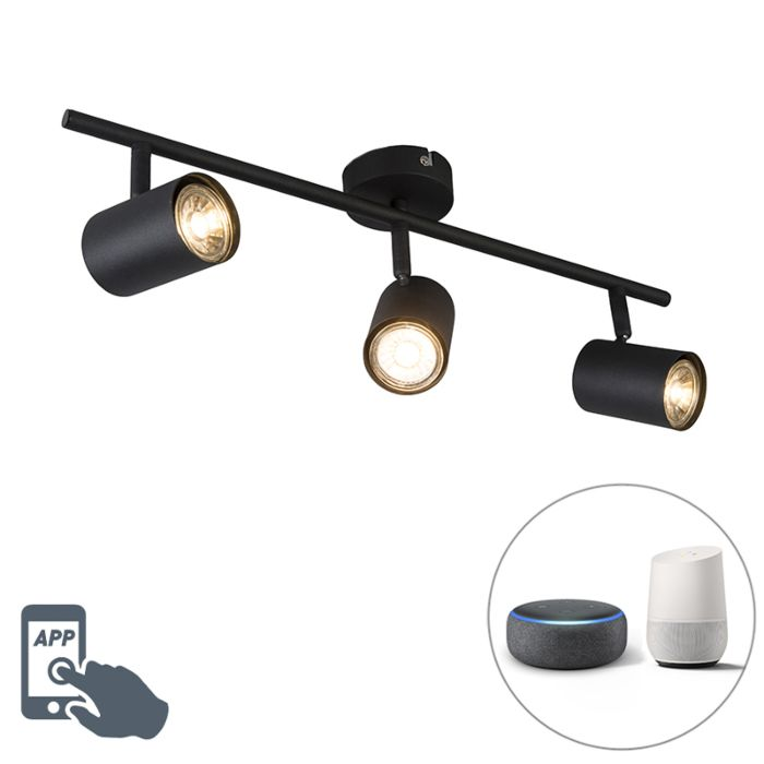 Industriële-smart-spot-zwart-kantelbaar-incl.-Wifi-GU10---Jeana-3
