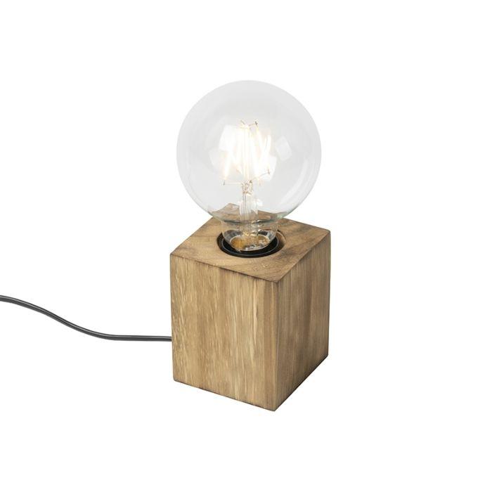 Landelijke-tafellamp-hout---Bloc