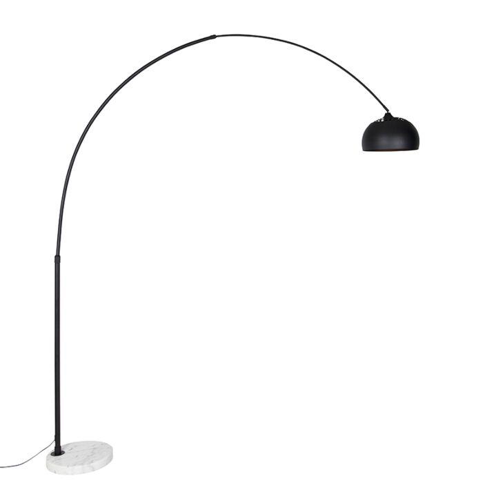 Moderne-booglamp-zwart-met-wit-verstelbaar---XXL