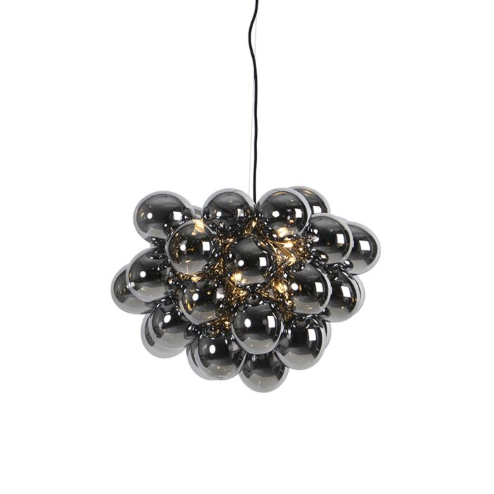 Design-hanglamp-zwart-met-smoke-glas-8-lichts---Uvas