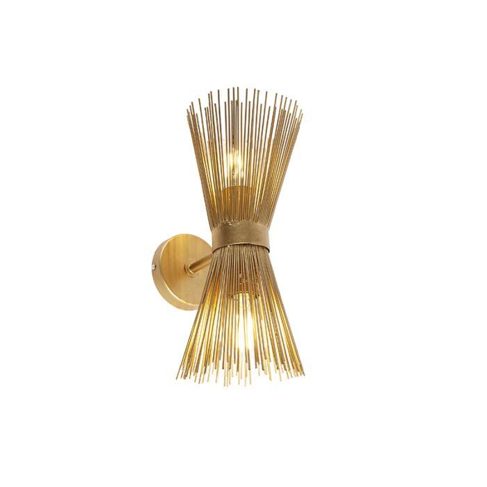 Art-Deco-wandlamp-goud-2-lichts---Broom