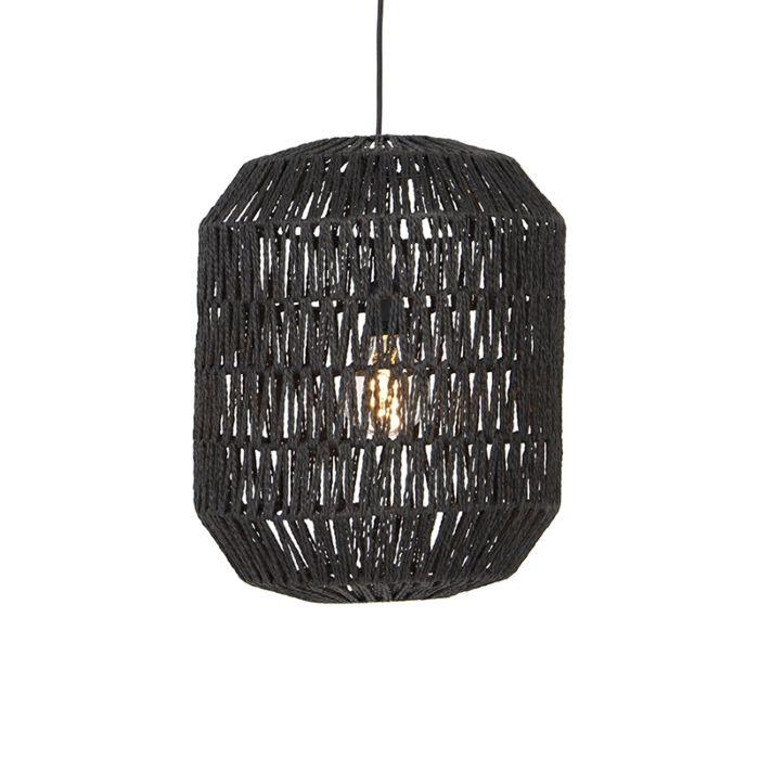 Retro-hanglamp-zwart-40-cm---Lina-Hive