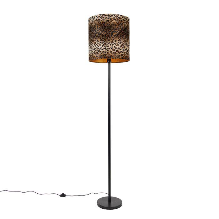 Vloerlamp-zwart-kap-luipaard-dessin-40-cm---Simplo