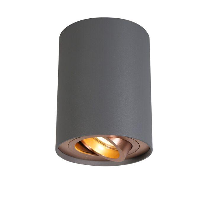 Smart-spot-grijs-met-koper-incl.-GU10-WiFi-lichtbron---Rondoo-Up