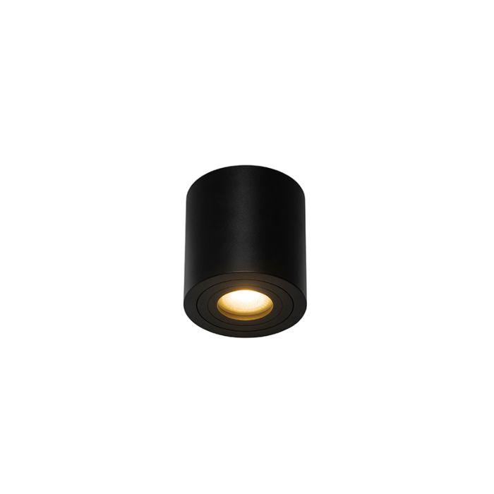 Moderne-ronde-badkamer-spot-zwart---Capa