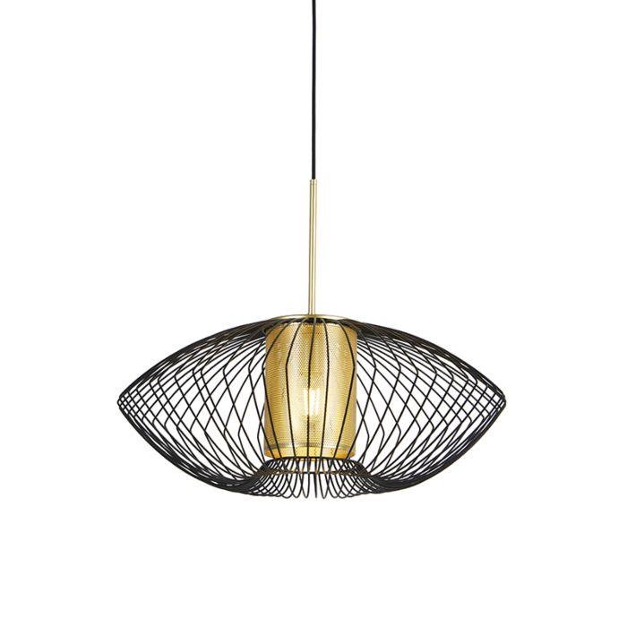 Design-hanglamp-goud-met-zwart-60-cm---Dobrado