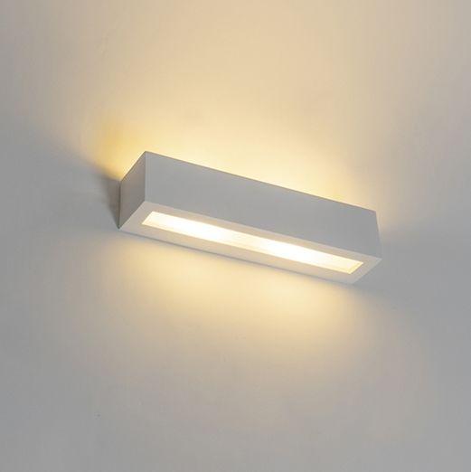 Moderne-wandlamp-wit-2-lichts---Tjada-Novo