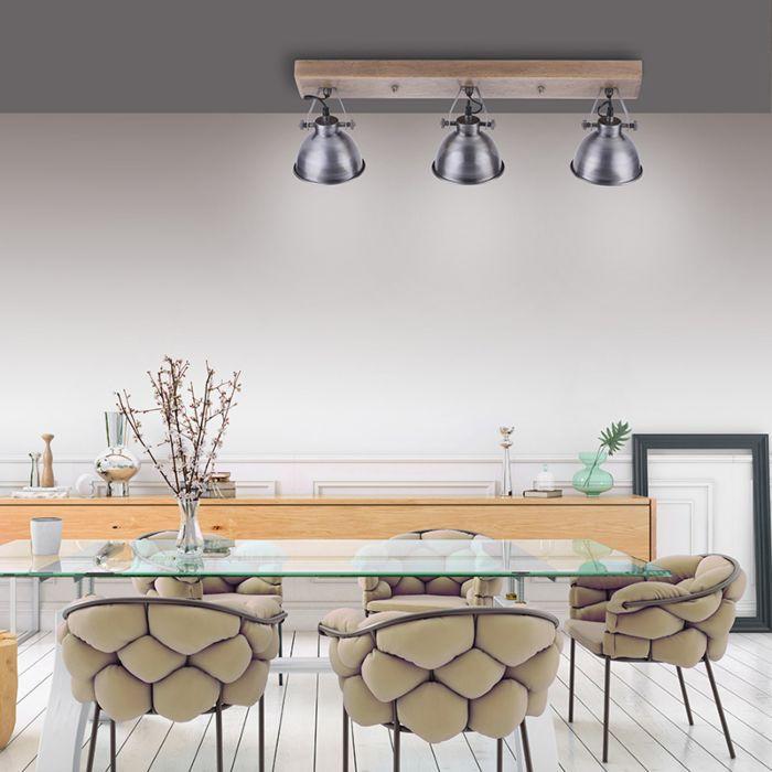 Industriële-plafondlamp-staal-met-hout-3-lichts---Samia