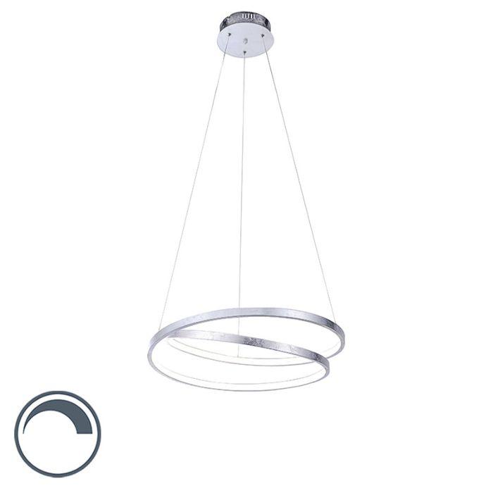 Design-hanglamp-zilver-55-cm-incl.-LED-dimbaar---Rowan