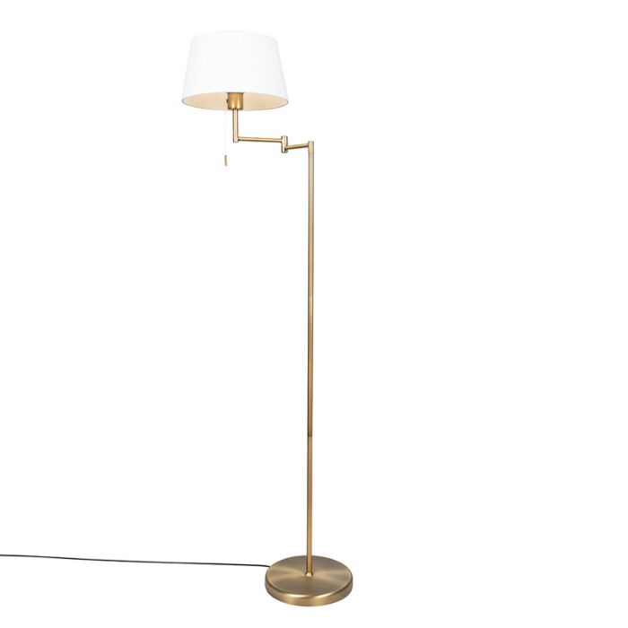 Smart-klassieke-vloerlamp-brons-met-wit-incl.-WiFi-A60---Ladas-Fix