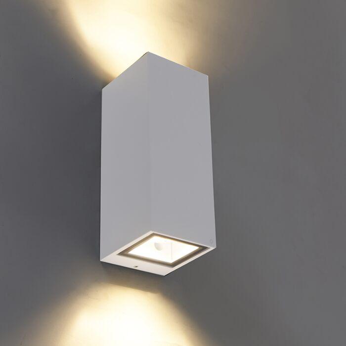 Moderne-wandlamp-wit-GU10-AR70-IP54---Baleno-II