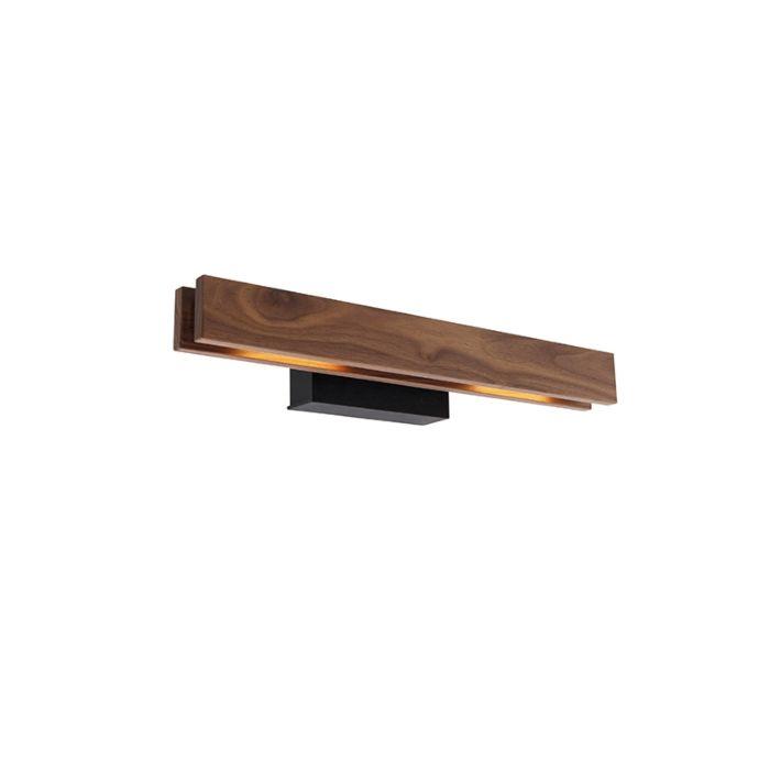 Landelijke-wandlamp-noten-hout-incl.-LED---Holz
