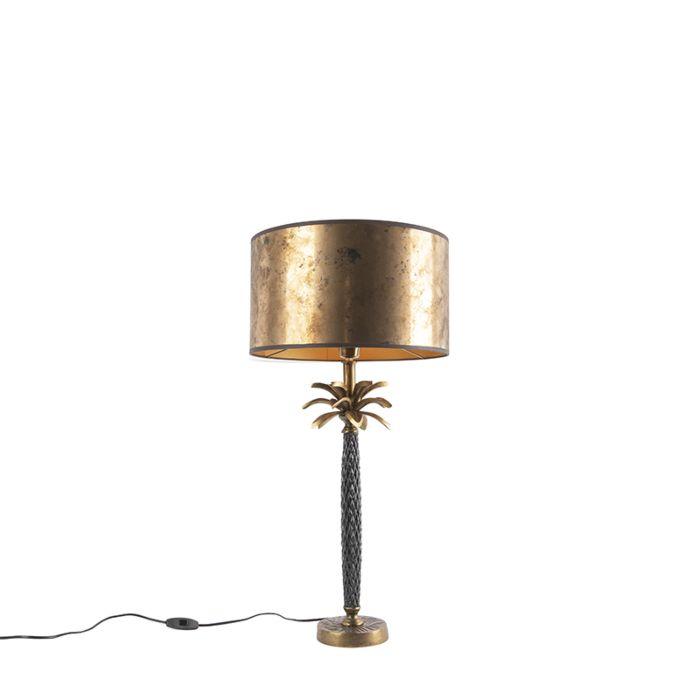 Art-Deco-tafellamp-brons-met-bronzen-kap-35-cm---Areka