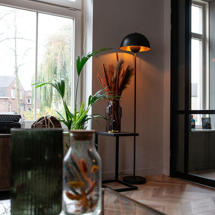 Industriële-vloerlamp-zwart-met-goud-160-cm---Magnax