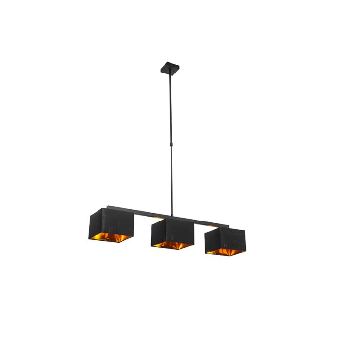 Moderne-hanglamp-zwart-met-goud-88-cm-3-lichts---VT-3