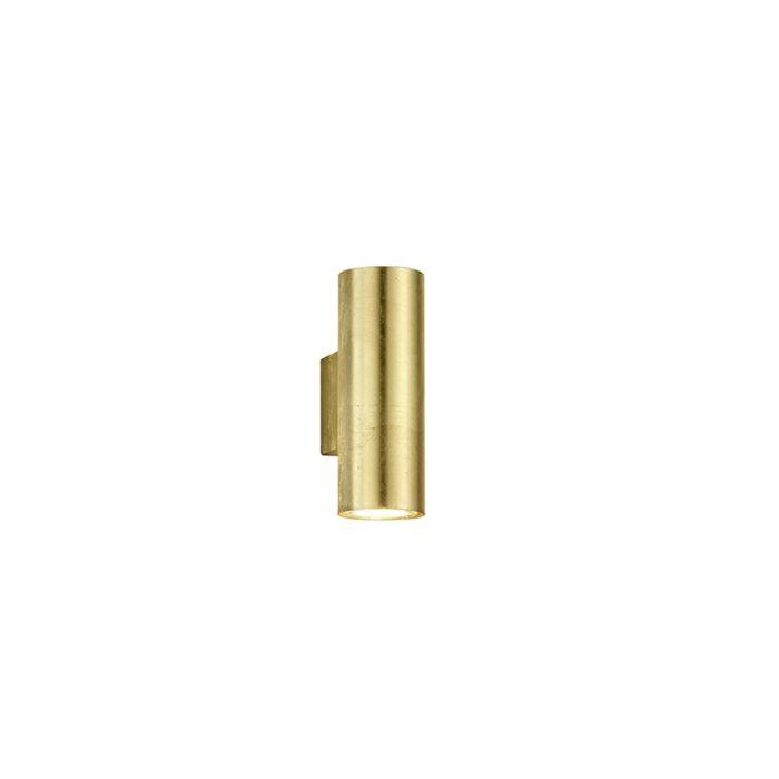 Moderne-wandlamp-goud-2-lichts---Duo-Loko
