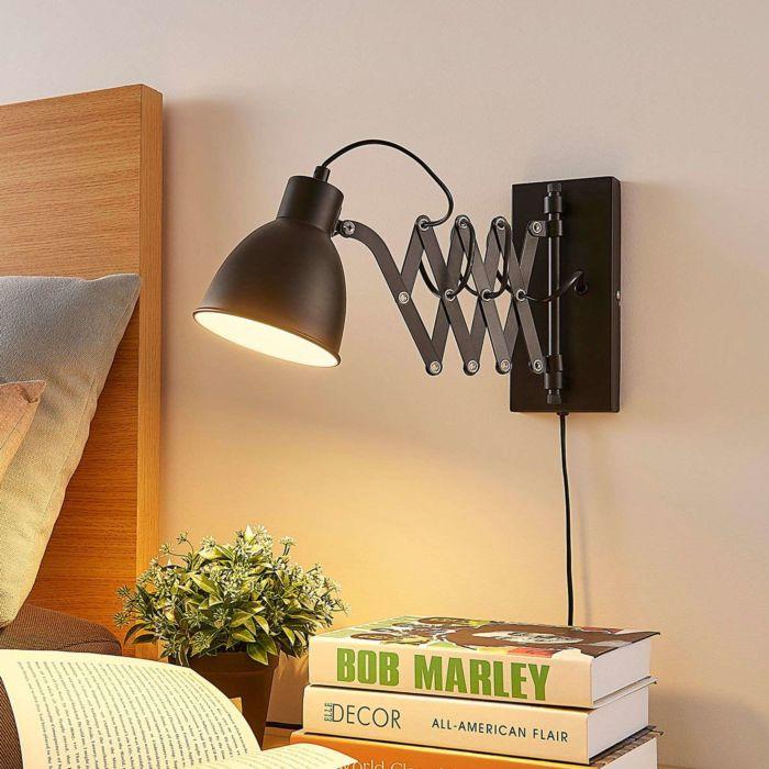Industriële-wandlamp-zwart-verstelbaar---Merle