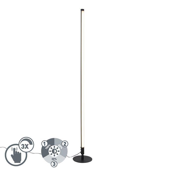 Vloerlamp-zwart-incl.-LED-met-touch-dimmer-3-staps-dimbaar---Line-up