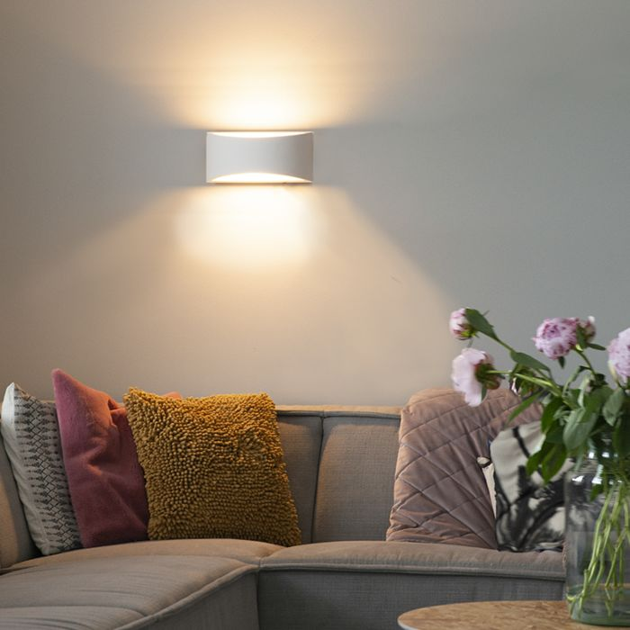 Moderne-wandlamp-wit-20-cm---Gypsy-Tum